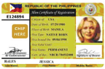 Alien registration card